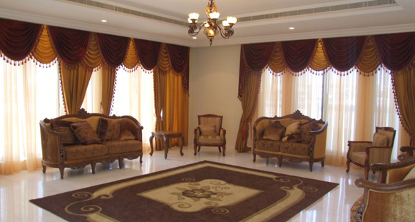 Drapes Interio Hotel Curtains Works In Dubai Soft